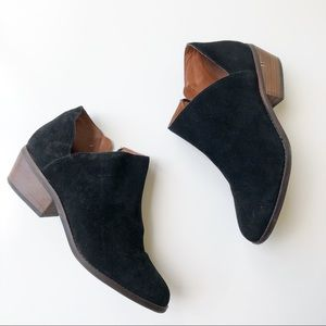 Lucky Brand Suede Ankle Booties Black 8.5